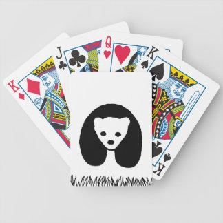 Panda poker playing cards
