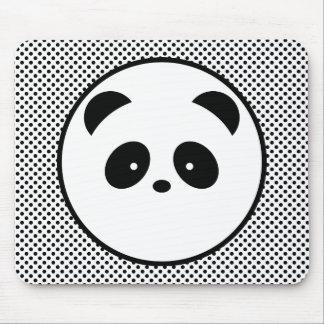 Panda polka dot mouse mat