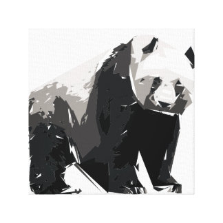 Panda polygon art illustration canvas print