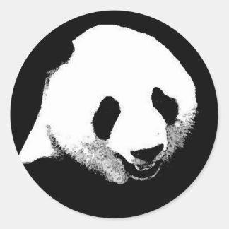 Panda Pop Art Classic Round Sticker
