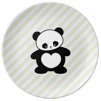 Panda Porcelain Plates