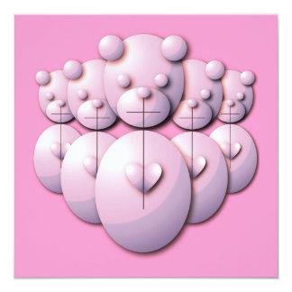 panda power 13 cm x 13 cm square invitation card