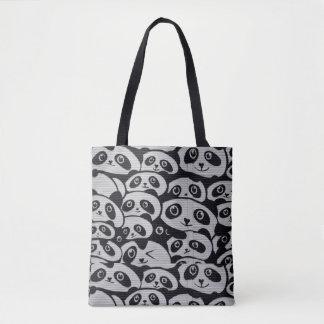 Panda Print Collage Tote bag