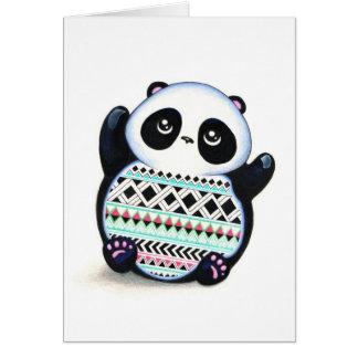 Panda Print Greeting Card