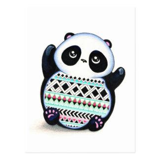 Panda Print Postcard