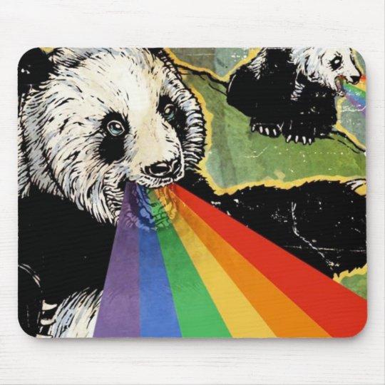 panda rainbow mouse mat