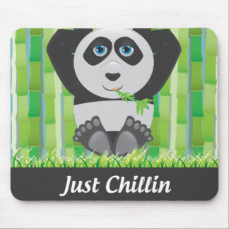 Panda relaxing mouse mat