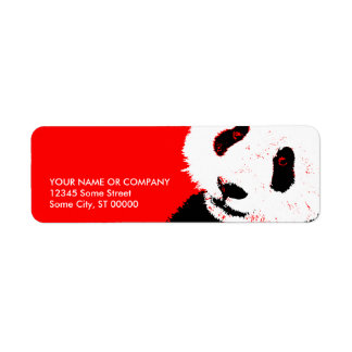 panda. return address label