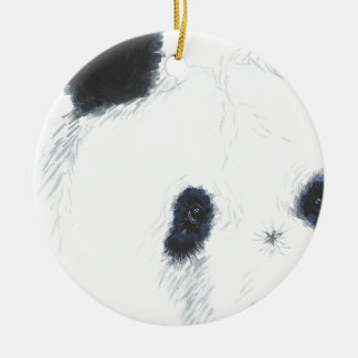 Panda Round Ceramic Decoration