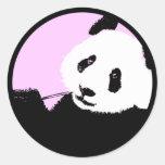 panda. round stickers