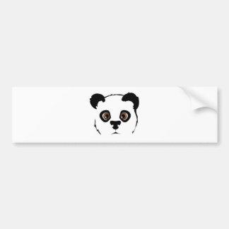 Panda S face Bumper Sticker
