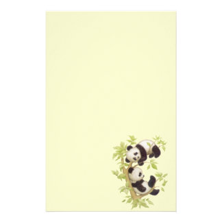 Panda s Playing in a Tree Personalized Stationery