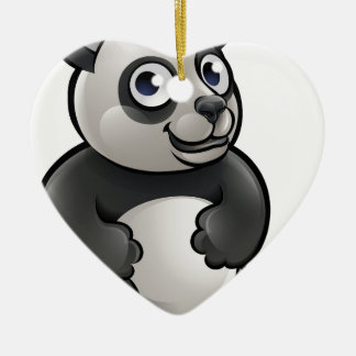 Panda Safari Animals Cartoon Character Ceramic Heart Decoration