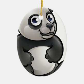 Panda Safari Animals Cartoon Character Ceramic Oval Decoration