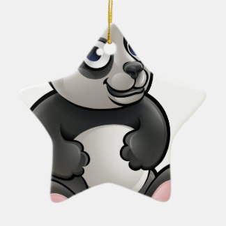 Panda Safari Animals Cartoon Character Ceramic Star Decoration