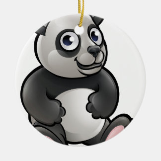 Panda Safari Animals Cartoon Character Round Ceramic Decoration