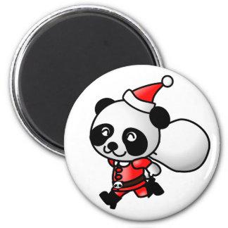 Panda santa magnets