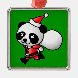 Panda Santa Ornament
