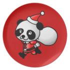 Panda Santa Plate