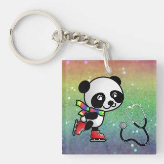 Panda Skate Ice Doctor Nurse Sports Medicine Peace Acrylic Keychains