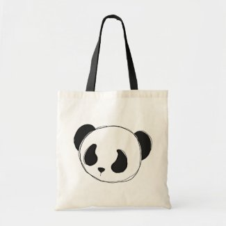 panda sketch tote bag