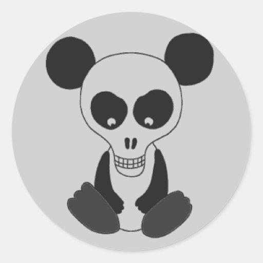 """Panda Skull"" Stickers"