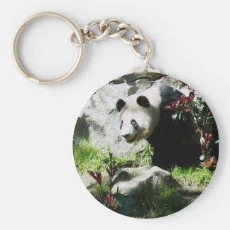 Panda Smile Basic Round Button Key Ring
