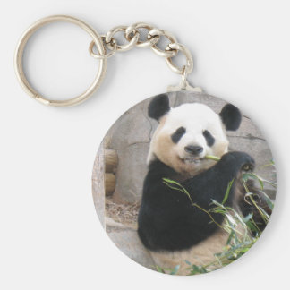 Panda Snack Basic Round Button Key Ring
