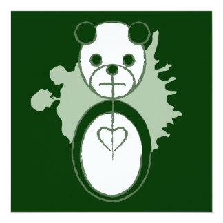 panda splatz 13 cm x 13 cm square invitation card