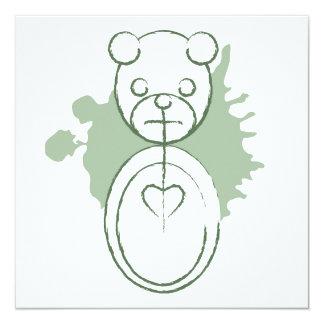 "panda splatz 5.25"" square invitation card"