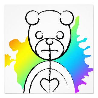 panda splatz custom invitation