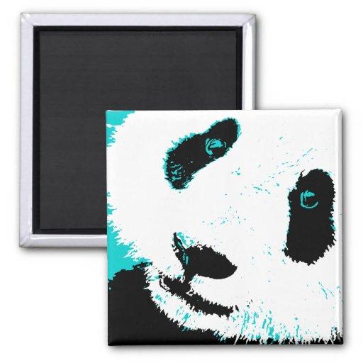 panda. square magnet