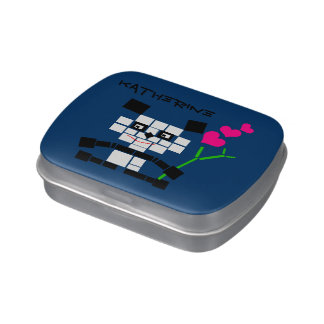 Panda Squares Jelly Belly Tins