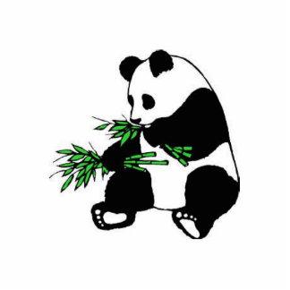 panda standing photo sculpture