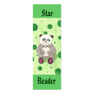 Panda (Star Reader) mini bookmarks Pack Of Skinny Business Cards