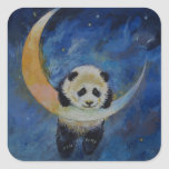 Panda Stars Square Stickers