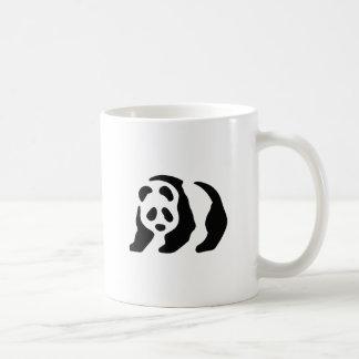 panda stencil coffee mug