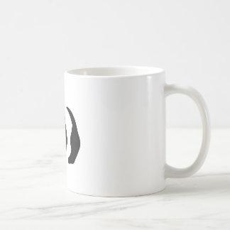 panda stencil coffee mugs
