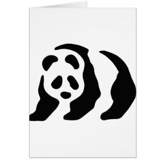 panda stencil greeting cards