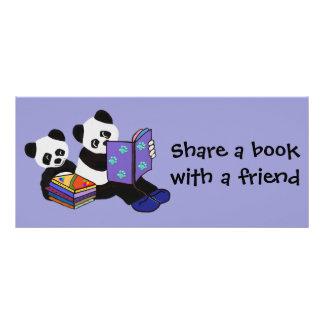 Panda Storytime Bookmarks Rack Cards