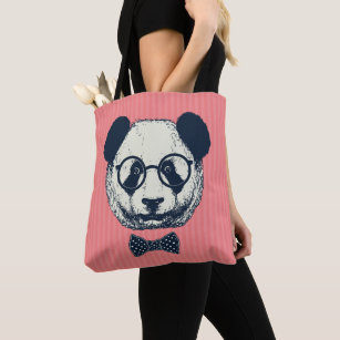 97728fea5 Panda With Glasses Bags   Zazzle UK