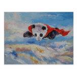 Panda Superhero Post Card