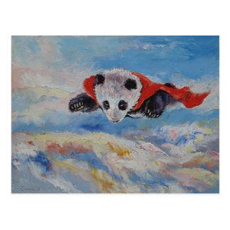 Panda Superhero Postcard