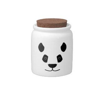 panda candy jars