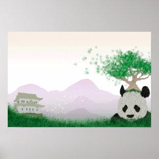 Panda Temple Poster