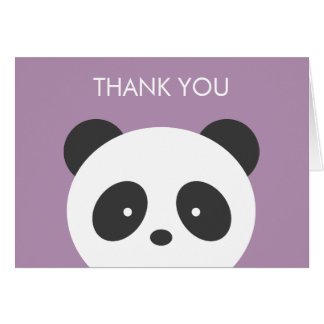 Panda thank you card