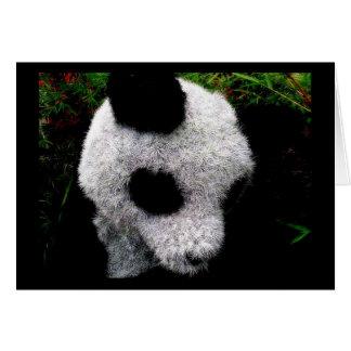 Panda Topiary Greeting Card