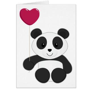 Panda Valentine Greeting Card