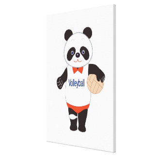 Panda Volleyball Player Canvas Print
