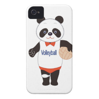 Panda Volleyball Player iPhone 4 Case-Mate Case